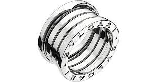 bvlgari rings images Lyst bvlgari b zero1 four band stainless steel ring in metallic jpeg