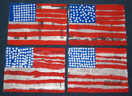 The America Flag Drawn American Flag Jasper Johns Pencil And In Color Drawn