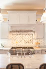 kitchen backsplash brick kitchen room gas stove solid white rustic kitchen cabinet