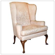 Queen Anne Wingback Chair Leather Wingback Chair Home Design Gallery