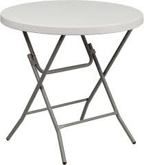 Kitchen Folding Tables by Amazon Com Flash Furniture 32 U0027 U0027 Round Granite White Plastic