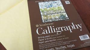 strathmore writing paper getting started in calligraphy supplies needed art inspiration paper