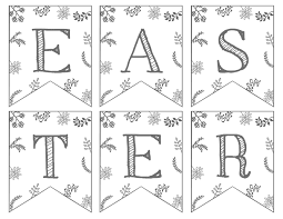 Easter Decorations Printouts by Happy Easter Banner Printable Paper Trail Design