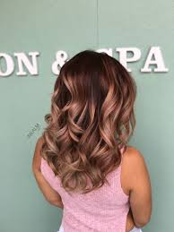 rose gold lowlights on dark hair rose gold balayage ombré hair painting by nealmhair hair colors