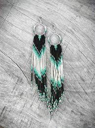 Knitted Chandelier Earrings Pattern Best 25 Seed Bead Earrings Ideas On Pinterest Diy Beaded