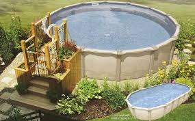 great image of backyard landscaping decoration using above ground