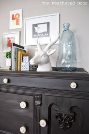 Black Furniture Paint by Furniture Reveal Black Milk Paint Buffet The Weathered Door