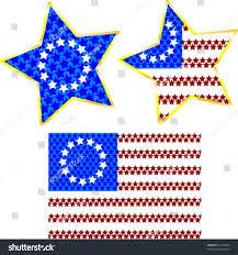 Us Flags Com Original Us Flag Made Stars Two Stock Vector 55133944 Shutterstock