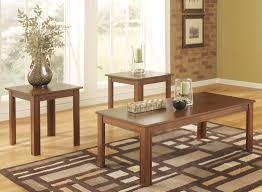 coffee table and matching console end glass top round 3pc tables
