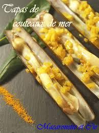 cuisiner des couteaux tapas de couteaux de mer macaronette et cie