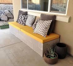 How To Build Patio Bench Seating Diy Cinder Block Outdoor Bench