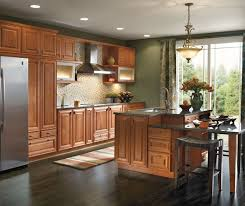 Light Cherry Cabinets In Galley Kitchen Schrock - Light cherry kitchen cabinets