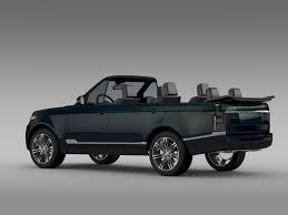 all black range rover range rover autobiography black lwb cabrio l405 2 by creator 3d