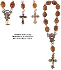 decade rosary one decade olive wood rosary jerusalem gifts