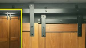 Track Barn Door by Goldberg Brothers Bypass Barn Door Track Youtube