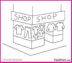 coloring shopping coloring pages