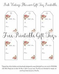 vintage blossom free printable gift tags setting for four