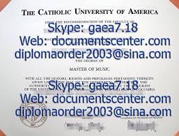 the catholic university of america certificate sample