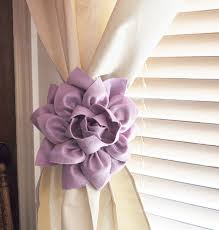 Lilac Nursery Curtains Two Dahlia Flower Curtain Tie Backs Curtain Tiebacks Curtain