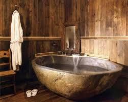 Bathroom Natural 22 Natural Stone Bathtubs Emphasizing Their Spatialities