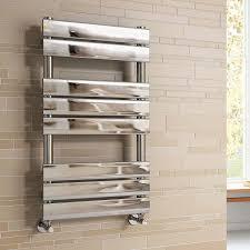 Modern Bathroom Radiators Ibathuk 800 X 450 Mm Chrome Designer Flat Panel Heated Towel