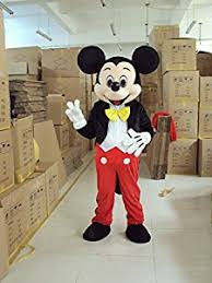 Mickey Mouse Costume Halloween Amazon Mickey Mouse Ace Mickey Mascot Costume Cartoon