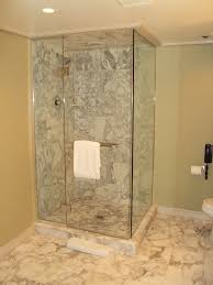 bathroom doorless and frameless shower design ideas for small