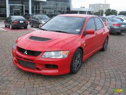 mitsubishi evo red rally red 2006 mitsubishi lancer evolution ix mr exterior photo