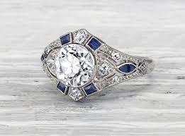 antique engagement ring vintage sapphire engagement rings 2017 wedding ideas magazine