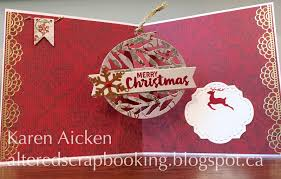 altered scrapbooking ornament twist card new release dies
