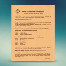 sample format for nar anon meetings u2013 nar anon webstore
