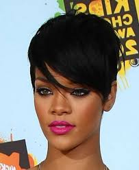 rihanna short black haircut hairstyles inspiration popular long