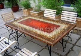 Mosaic Patio Table Top by Mosaics