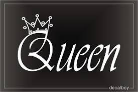 queen crown decals u0026 stickers decalboy