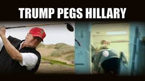 Pegging Meme - trump retweets funny video of him pegging hillary with a golf ball
