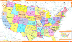us map united states political map inside interactive of usa