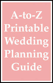 wedding planner guide a to z printable wedding planning guide