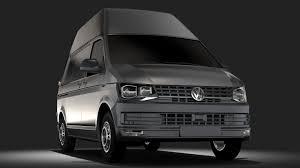 volkswagen models van 3d model volkswagen transporter van l1h3 t6 2017