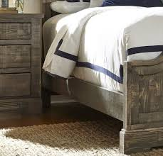 Progressive Willow Bedroom Set Meadow Weathered Gray King Panel Bed From Progressive Furniture
