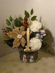 christmas silk floral arrangement 3039 christmas silk floral