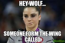 Meme Not Impressed - hey wolf someone form the wing called meme mckayla maroney
