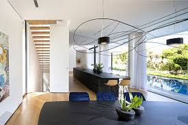 completely open floor plans l shaped house completely open to the pool interiorzine