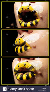 Bumble Bee Makeup For Halloween by Bumble Bee Animal Lipsticks Artist Paige Thompson Discovered Some