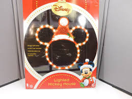 Disney Outdoor Lighted Christmas Decorations disney window indoor outdoor santa mickey mouse christmas
