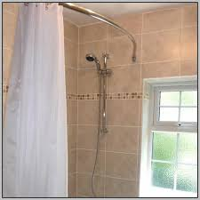 Curtain Rail Curved Curved Bath Shower Curtain Rod Rail Curtains Home Design Ideas