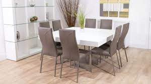 Round Kitchen Table Sets For 8 by Square Dining Table Seats 8 Kobe Table
