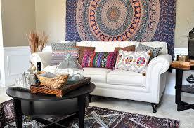 livingroom world boho living room makeover pop of color with world market made