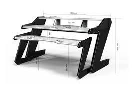 Studio Desks Music by Music Commander Desk White Dimensions Studiodesk