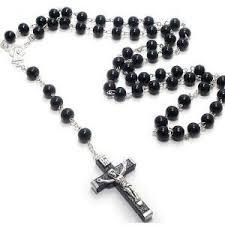catholic rosary black wood rosary bead traditional catholic prayer