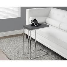 monarch specialties accent table monarch specialties glossy grey end table i 3030 the home depot